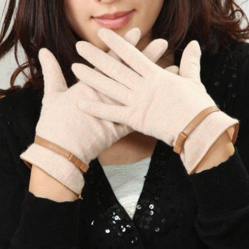 免除する準備ができて心理学【WARMEN】(5色あり)レディース ウール 手袋 グローブ 手ぶくろ ベルト 冬 Y019