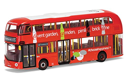 Corgi Boys New Routemaster Oxford Circus 1:76 Diecast Double Decker Coca Cola Bus -  Hornby, OM46615B