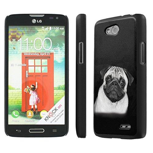 NakedShield LG Optimus L90 (Pug in Black and White) SLIM Art Phone Cover Case (Tmobile L90 Lg)