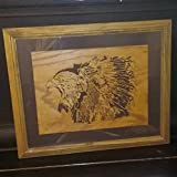 Eagle and Indian Scroll saw Picture