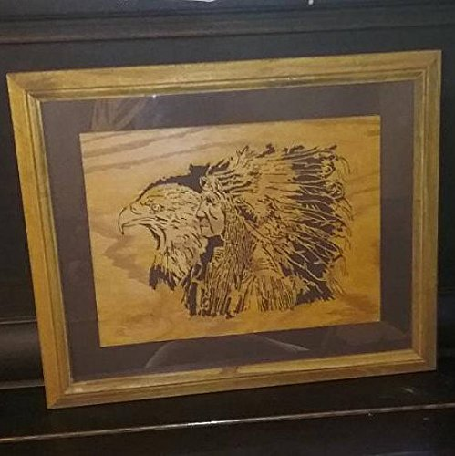 Eagle and Indian Scroll saw Picture -