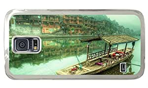 Hipster Samsung S5 carry covers Litte Boat China PC Transparent for Samsung S5