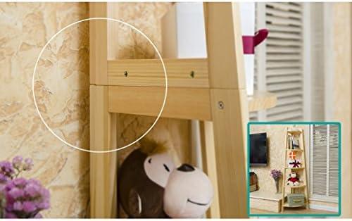 LBYMYB Estante esquinero de Pino de Cinco Pisos, Estante de Almacenamiento de estantería de Piso del Dormitorio, Color Madera, L37 X W37 X H152cm, Carga 5 kg Estante: Amazon.es: Hogar