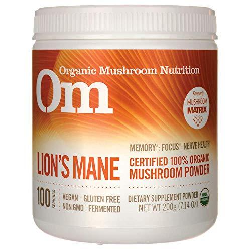 Om Organic Mushroom Nutrition Lion's Mane: Memory, Focus, Nerve Health, 100 servings, 7.14 Ounce, 200 grams ()