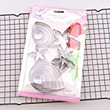 Hot 23pcs/set Rose Petal leaf Cookie Cutter Moulds Stainless Steel Pastry & Biscuit Cutter Cake Mold DIY Decoration