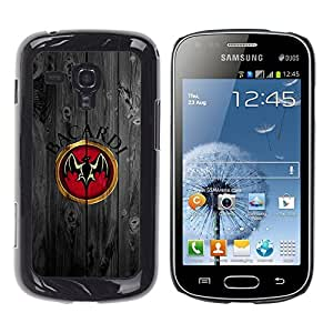 Design for Girls Plastic Cover Case FOR Samsung Galaxy S Duos S7562 Cool Rum Bat Wood OBBA