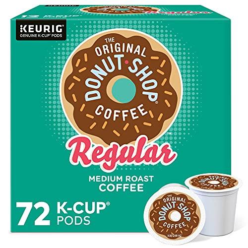 The Original Donut Shop Keurig Single-Serve Ok-Cup Pods, Regular Medium Roast Coffee, 72 Count