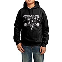 Sandyx Youth Thrasher Magazine 7 Boys Girls Hoodies Sweatshirt Size L US Black