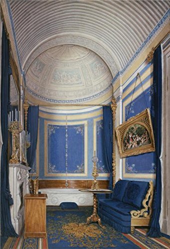 Oil painting 'Hau Edward Petrovich,Interiors of the Winter Palace,The Bathroom of Grand Princess Maria Alex,1807-1887' printing on Perfect effect Canvas , 30x44 inch / 76x112 cm ,the best Foyer decor - Nude Alex Price