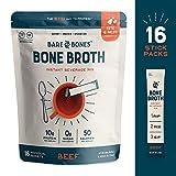 Bare Bones Bone Broth Instant Beverage Mix, Beef, 10g Protein, Keto & Paleo Friendly, 0.53oz, Pack of 16 Larger Image