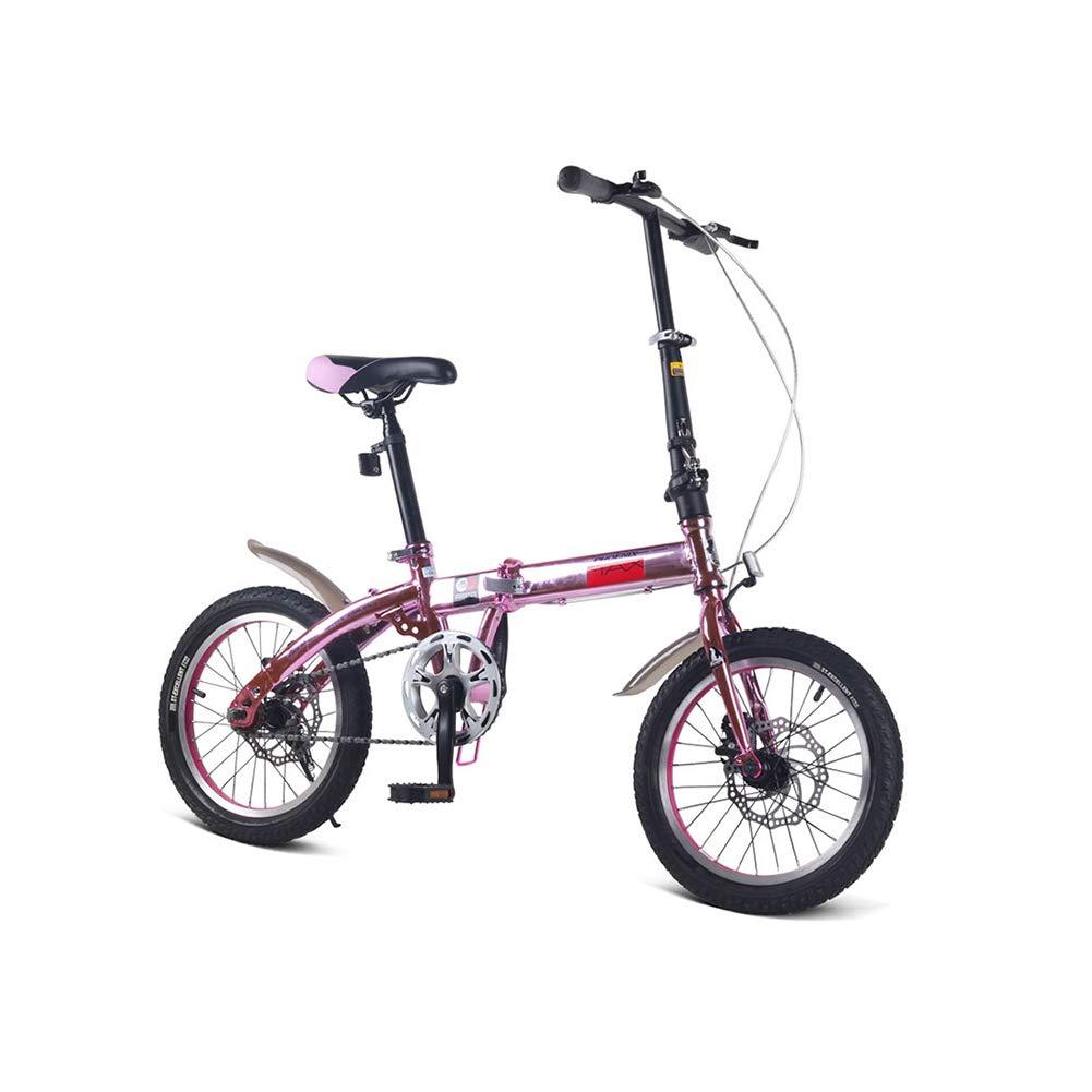 ブルーピンク 子供用 自転車 6-7-8-9-10歳 男の子 女の子 16インチ 折り畳み 小学生 自転車 ピンク 1035 B07JKXNSPZ  ピンク