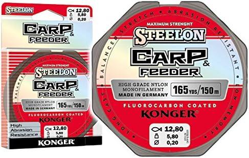 Konger Angel Cuerda steelon Carp /& Feeder fluorocarbono Coated 150/m 0,20/ 0,05//€//m /0,40/mm monofile Super Fuerte.