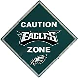 NFL Philadelphia Eagles Caution Wall Sign Plaque, 14″
