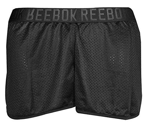 Reebok Women's L&M Mesh Shorts Black (Reebok Elastic Waist Shorts)