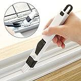 Hosaire 2 Pcs 2-in-1 Multipurpose Kitchen Door Groove Cleaning Brush Keyboard Corner Dust Brush(Blue+Blacak)