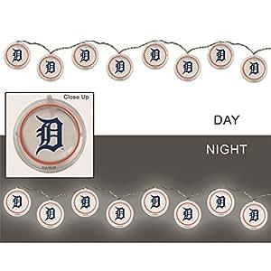 Amazon.com: Cadena de luces, Detroit Tigers: Jardín y Exteriores