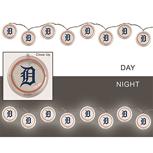 Team Sports America String Lights, Detroit Tigers