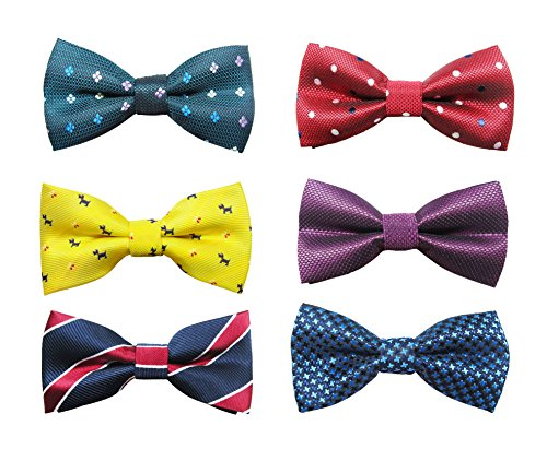 6pc Adjustable Pre-tied Boys Bow Tie Accessory Set by Zakka Republic (BBT-04)