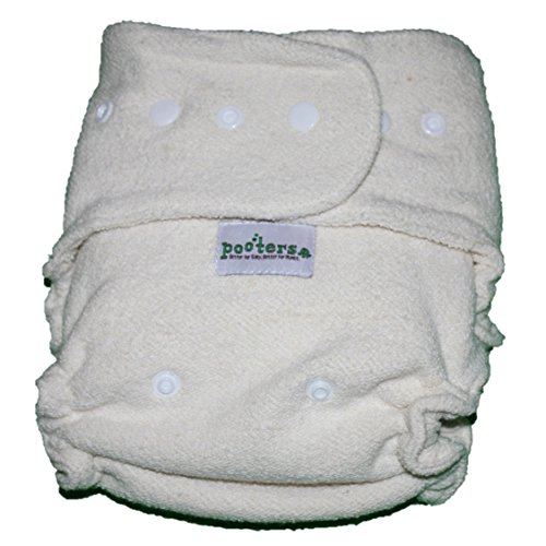 Pooters Overnight PLUS cloth diaper (16 hours of dryness - (Organic Fitted Cloth Diaper)