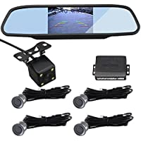 CAR ROVER CCD Night Vision Camera With 4.3 Inch Video Monitor + 1 Set 4 Gray Sensors Parking Sensor