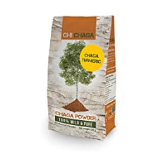 Premium Chaga Mushroom Turmeric Powder - 8 oz of Authentic 100% Wild Harvested Canadian Chaga Tea - Superfood