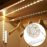 #2: Amagle LED Dual Mode Motion Night Light, Flexible LED Strip with Motion Sensor Closet Light for Bedroom Cabinet, Warm White (3000K) (4 AAA Batteries Operated, Not Included)