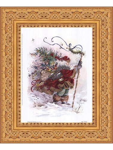 Framed Windswept Traveler- 6x8 Inches - Art Print (Ornate Gold ()