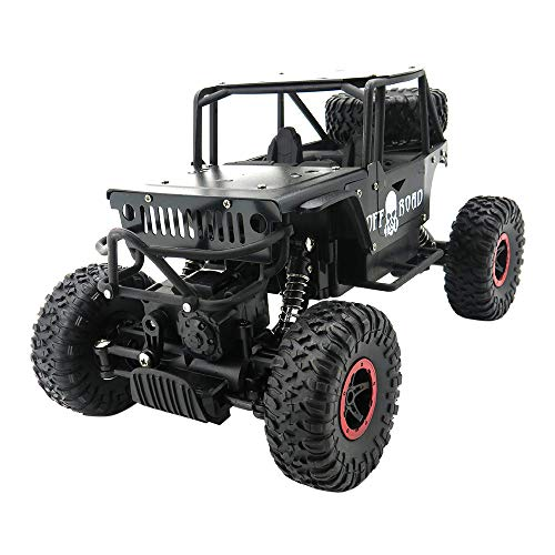 Kit Buggy Electric 4wd (Gbell 1:18 RC Off-Road Vehicle Climber Truck Racing Car, 2.4Ghz 4WD High Speed Alloy Pickup Monster Car Buggy Kit Toy Birthday for Boys Kids 6-15 Years Old (Black))