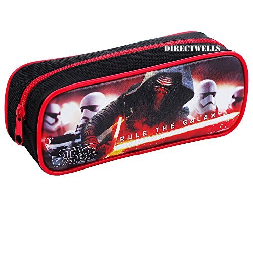 Disney Star Wars Character Authentic Licensed Single Zipper Pencil Case (Black)