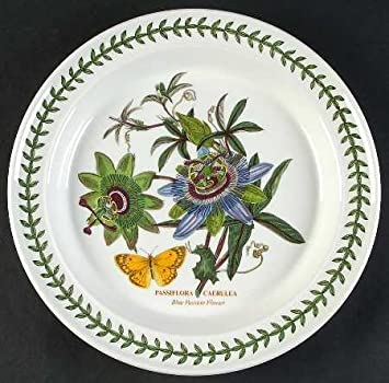 PORTMEIRION BOTANIC GARDEN Blue Passion Flower Dinner Plate