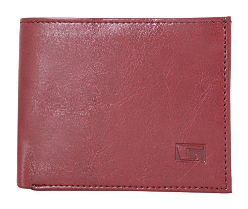 Gansta GW1021 Red rich look sleek bi-fold wallet