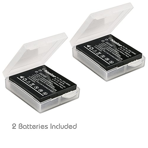 Kastar Battery (2-Pack) for Panasonic Lumix CGA-S005, CGA-S005A/1B, CGA-S005E, CGA-S005GK, DMW-BCC12 and DE-A12 work with Panasonic Lumix DMC-FS1, DMC-FS2, DMC-FS2, DMC-FX01, DMC-FX07, DMC-FX1, DMC-FX