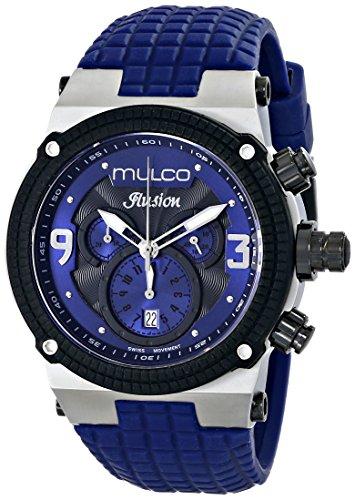 MULCO Unisex MW3-12140-415 Ilusion Analog Display Swiss Quartz Blue Watch