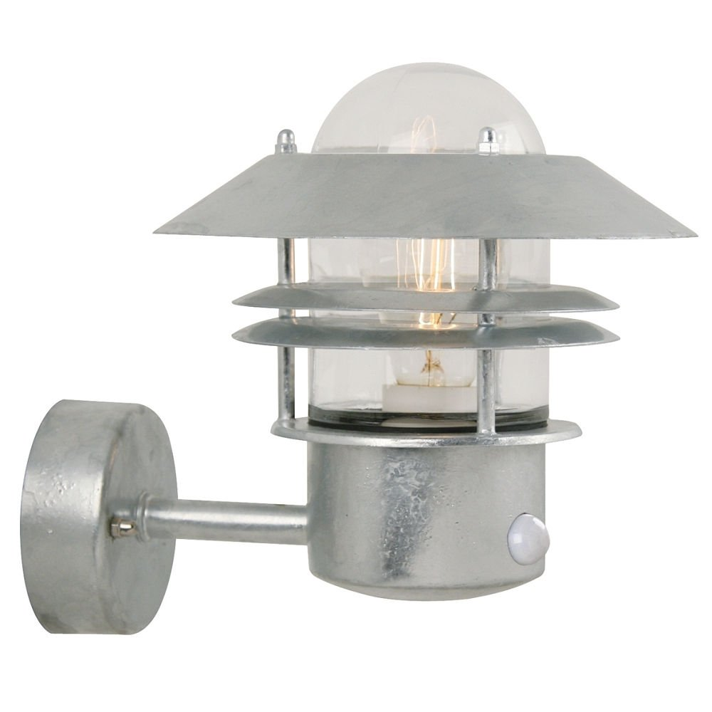 Nordlux Lampada a sensore blokhus sensore applique da parete, E27, IP54, zincato classe di efficienza energetica  A + + – D