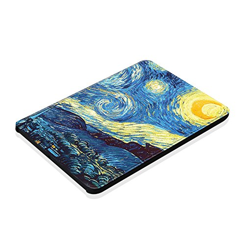 Fintie Case for Kindle Voyage - [The Thinnest and Lightest] Protective PU Leather Slim Shell Cover with Auto Sleep / Wake for Amazon Kindle Voyage (2014), Starry Night by Fintie (Image #8)