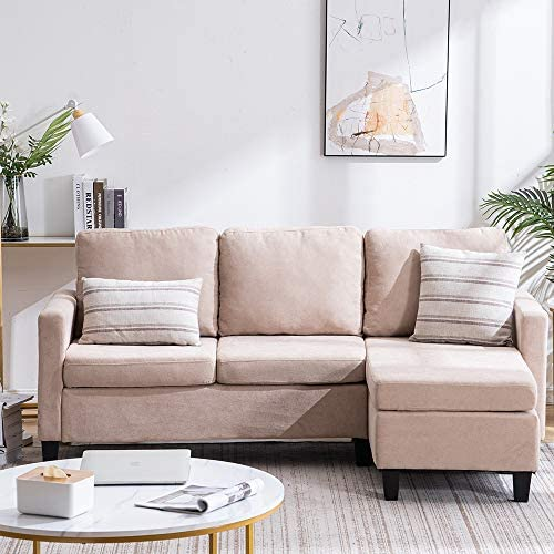 Bonnlo Convertible Sectional Sofa L Shaped Sectional Couch ...
