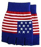 JTC Belt Unisex Half Finger Stretchy Fingerless Gloves American Flag