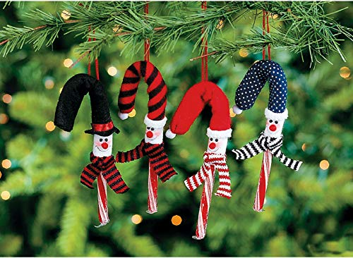 tkpartysupplies4u 12 Snow Candy Cane Covers Christmas Tree Ornaments Gift Exchange Candy Cane Cover Ornaments