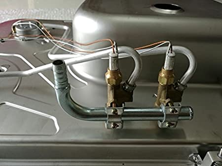 Barco Caravana Camper 2 quemadores de gas estufa encimera y fregadero Combo con tapa de cristal gr-588: Amazon.es: Deportes y aire libre