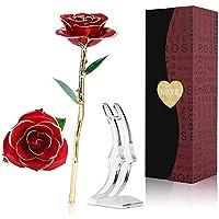 Rosa-de-Oro-24KRosa-Eterna-Flores-Chapadas-en-Oro-con-Base-Soporte-Transparente-y-Caja-de-Regalo-para-el-Dia-de-San-Valentinel-Dia-de-Madre-MujerNovia-EsposaAniversarioCumpleanos-Regalo