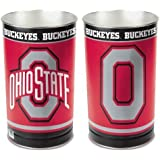 "NCAA Ohio State University Tapered Wastebasket, 15"""