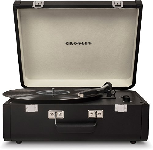 Crosley Portfolio Vintage 2-Speed Bluetooth Suitcase Turntable with Built-in Speakers, Black from Crosley