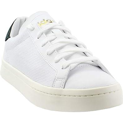 adidas originals court vantage white perforated trainers
