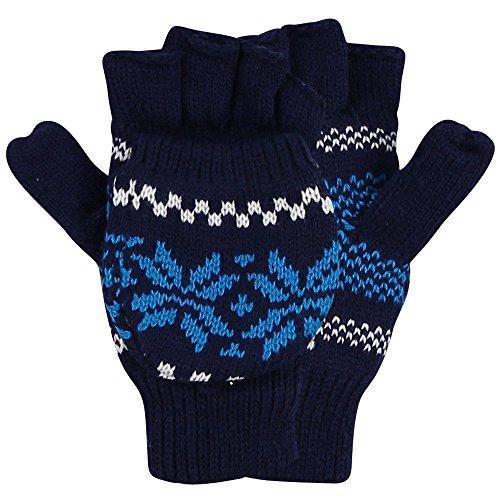 Womens Snowflake Pattern Convertible Mitten
