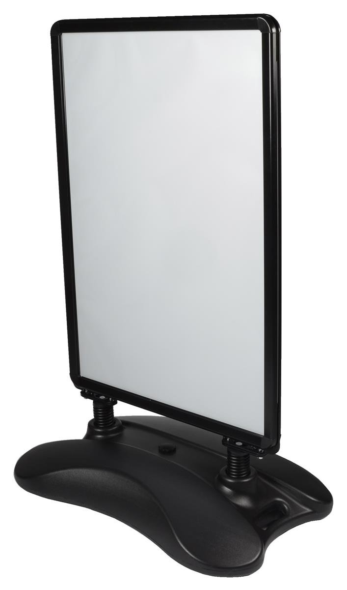 Displays2go Sidewalk Poster Stand with Water-fill Base Holds 24 x 36 Inches Graphics (PS1536BLK)