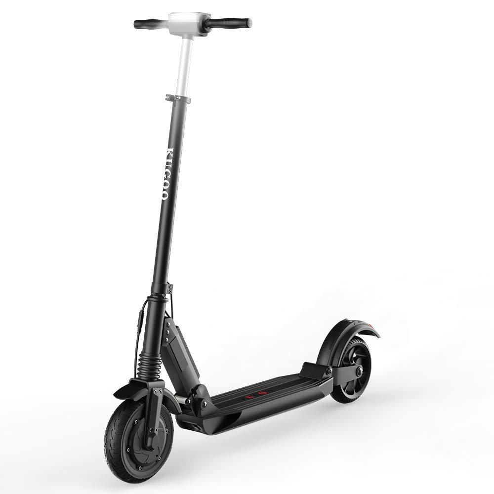 Patinete Eléctrico para Adultos HOMMINI Scooter Eléctrico Plegable Adultos KUGOO S1 Velocidad Máx 30 km/h, 350 Vatios, Batería 6Ah, Altura del ...