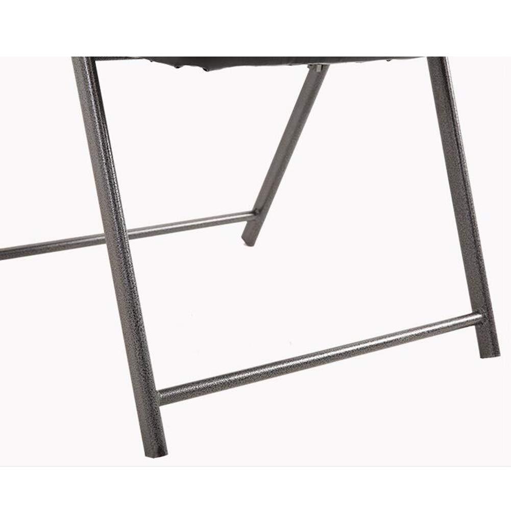 FENGFAN Stolar hopfällbara, falskt läder, tjockt skum stoppat säte, stålrör, för köksmöbler vardagsrumsstol Svart Gray Meshi