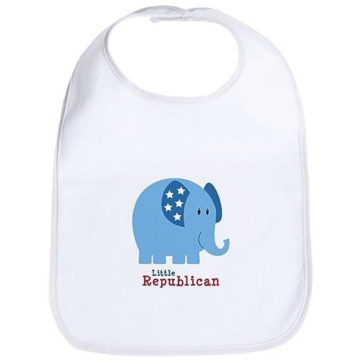 7d54420ed Amazon.com  CafePress - Little Republican Bib - Cute Cloth Baby Bib ...