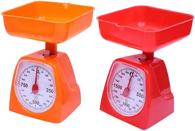 Utoolmart Mechanical Kitchen Scale - Diet Food Scale - with Pounds & Kilogram Measurements - Measuring Range 5000g Accuracy 5g Green 1pcs
