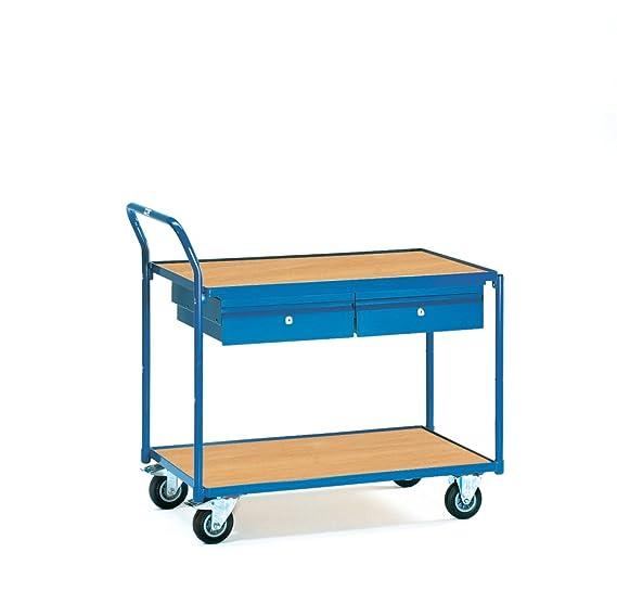 Fetra 2622 mesa carro, 2 pisos con cajones, 300 kg: Amazon.es ...